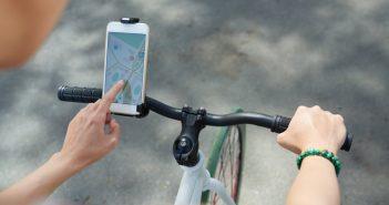 De smartphone en de fiets