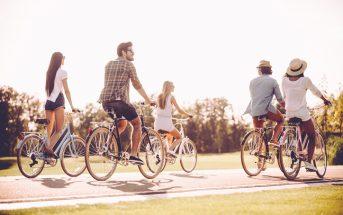 Drukte op het fietspad