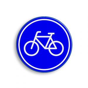 Cortine daagt je uit - klassiek fietsbord