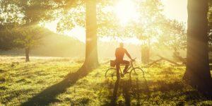 fietsen in het najaar