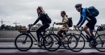 afstand houden op de fiets
