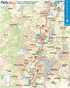 Route langs de Maas - Limburg - Fietsactief.nl