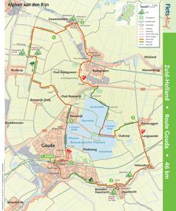 Fietsroute Gouda Fietsactief 3 - Mei 2012