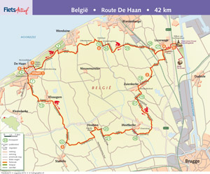 Route De Haan FietsActief 5 - 2014