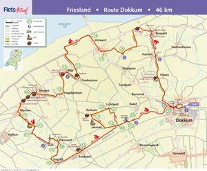 Route Dokkum FietsActief 4-2015