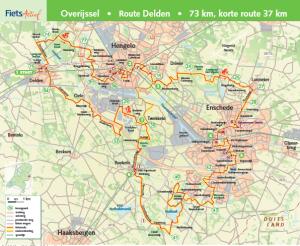 Routekaartje Delden